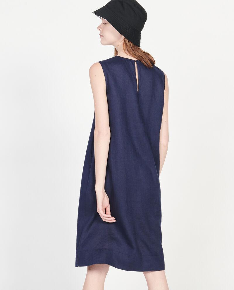Vestido 100% de lino Maritime blue Lux