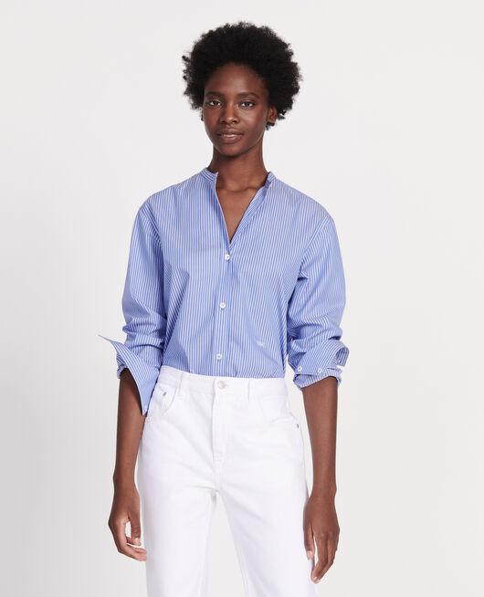 Camisa oversize de algodón POPELINE STRIPE2