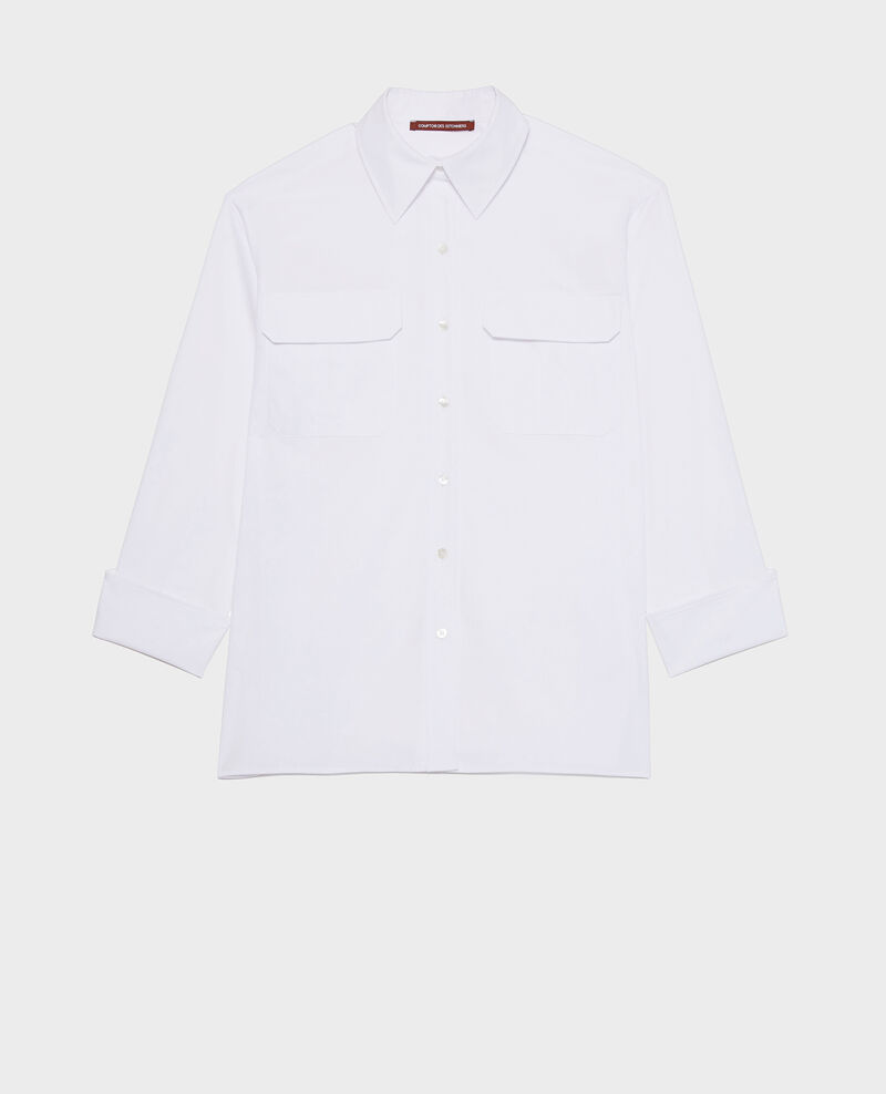 Camisa de popelina de algodón Optical white Lauryl