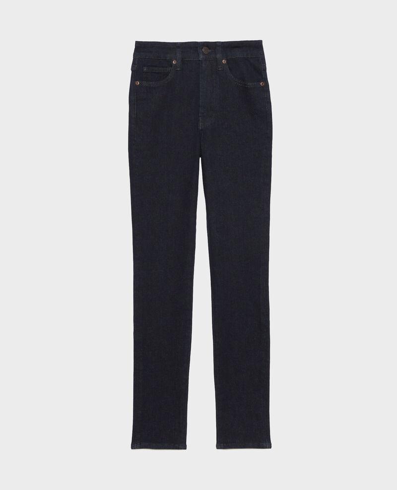 DANI - SKINNY - Jeans talle alto Dark indigo Rauky