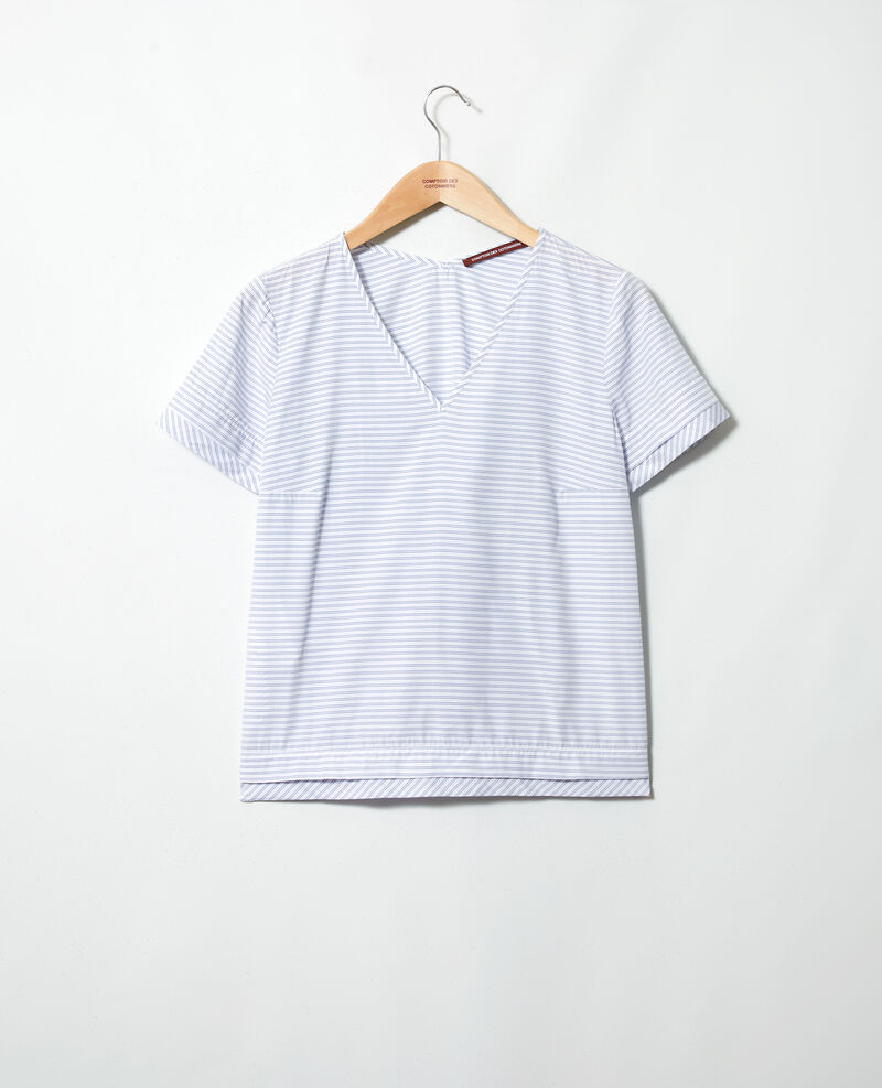 Blusa de rayas Blanc/indigo Ianane