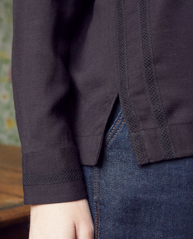 Blusa con bordado Noir Jistaline