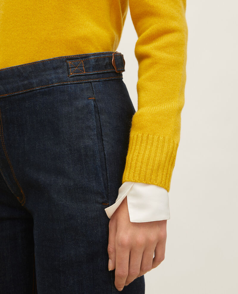FLARE STRAIGHT - Pantalón ajustado en denim bruto Denim rinse Libbie