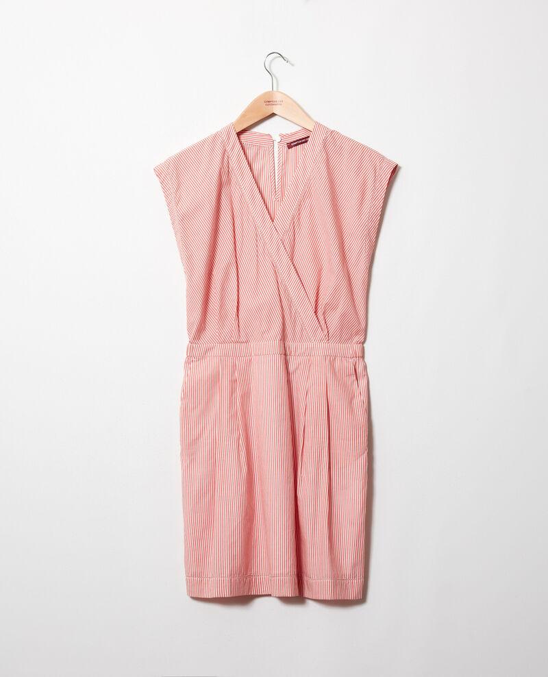 Vestido con escote cruzado de algodón Ss molten lava Janisa