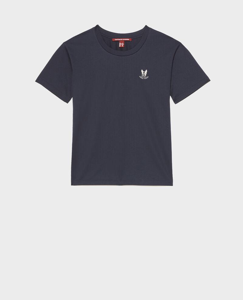 Camiseta bordada de algodón Night sky Nagano