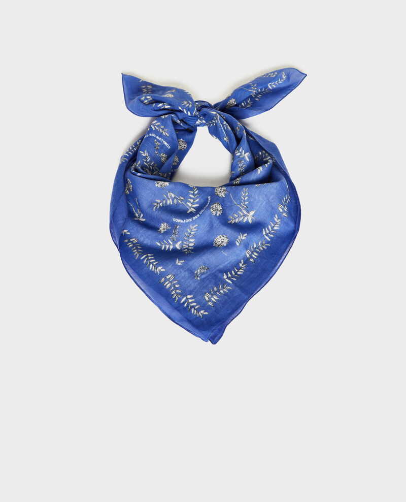 Bandana de algodón estampado Royal blue Noronille