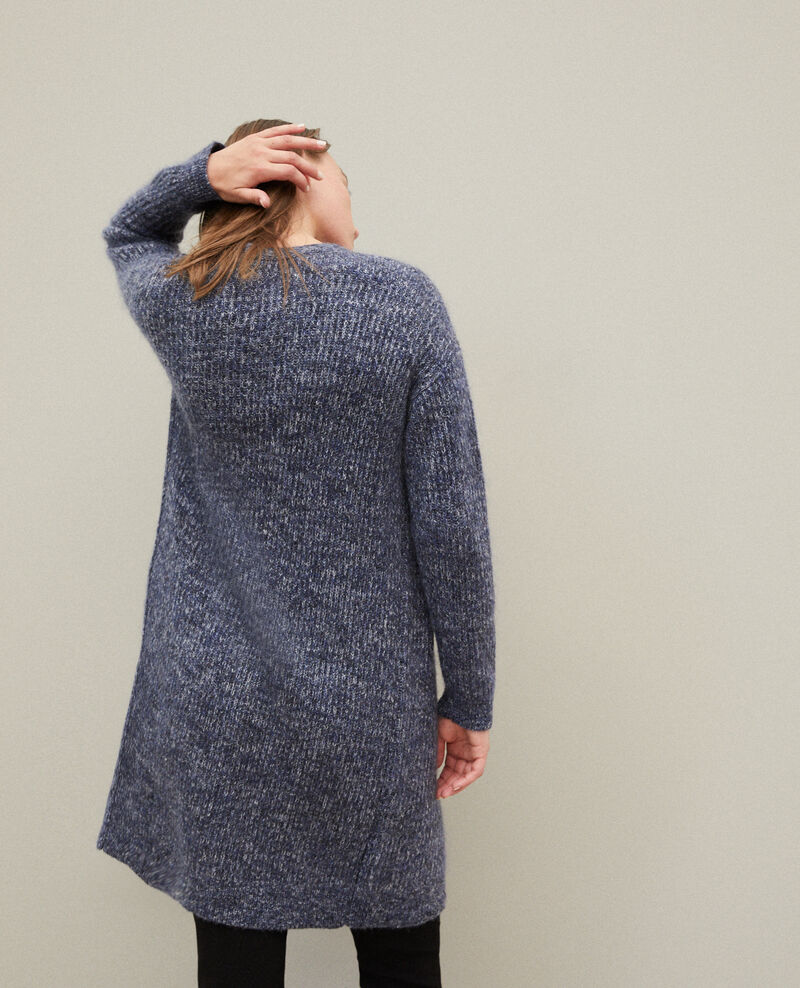 Cárdigan largo con mohair Azul Galex