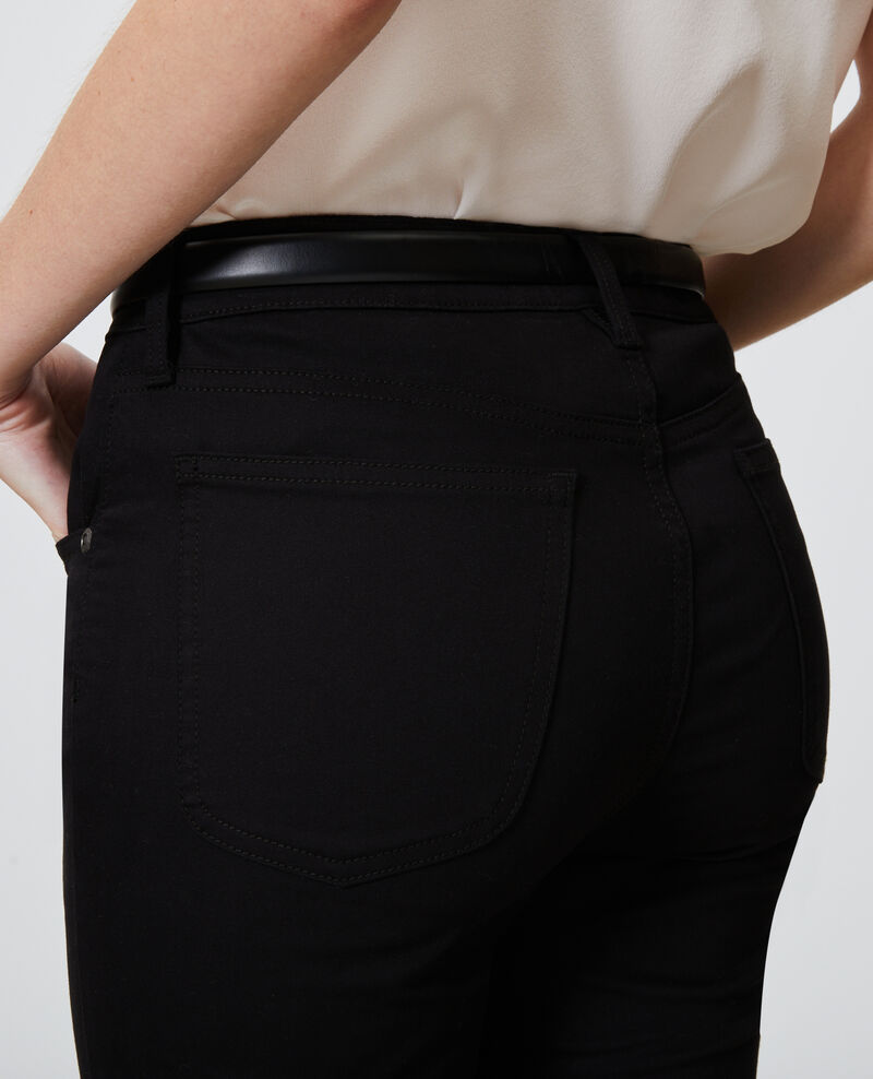 DANI - SKINNY - Jeans 5 bolsillos Black beauty Mozakiny