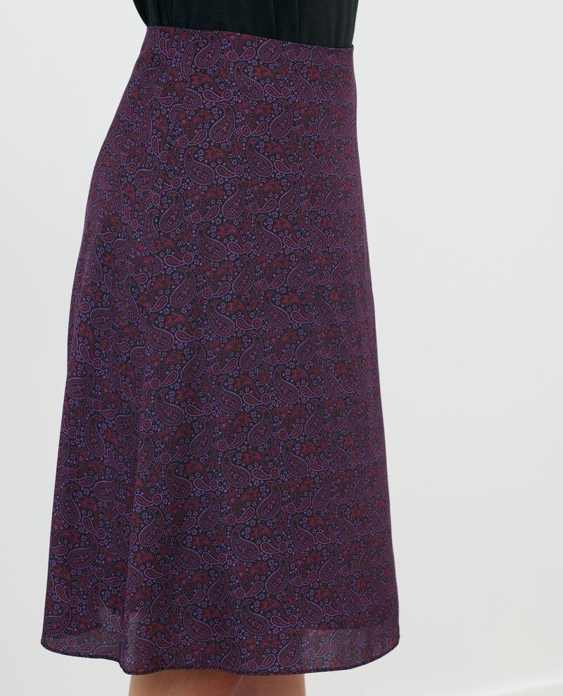 Falda de seda Paisley purple Pirma