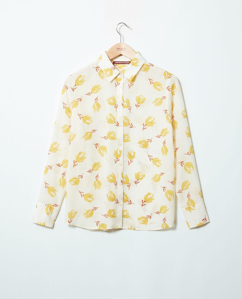 Camisa estampada Tulip buttercream Jindia