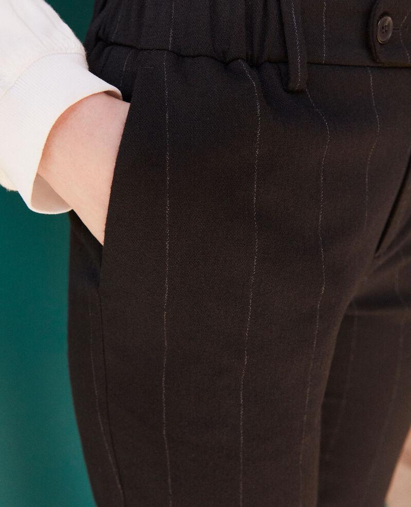Pantalón corte carrot Negro Galetta