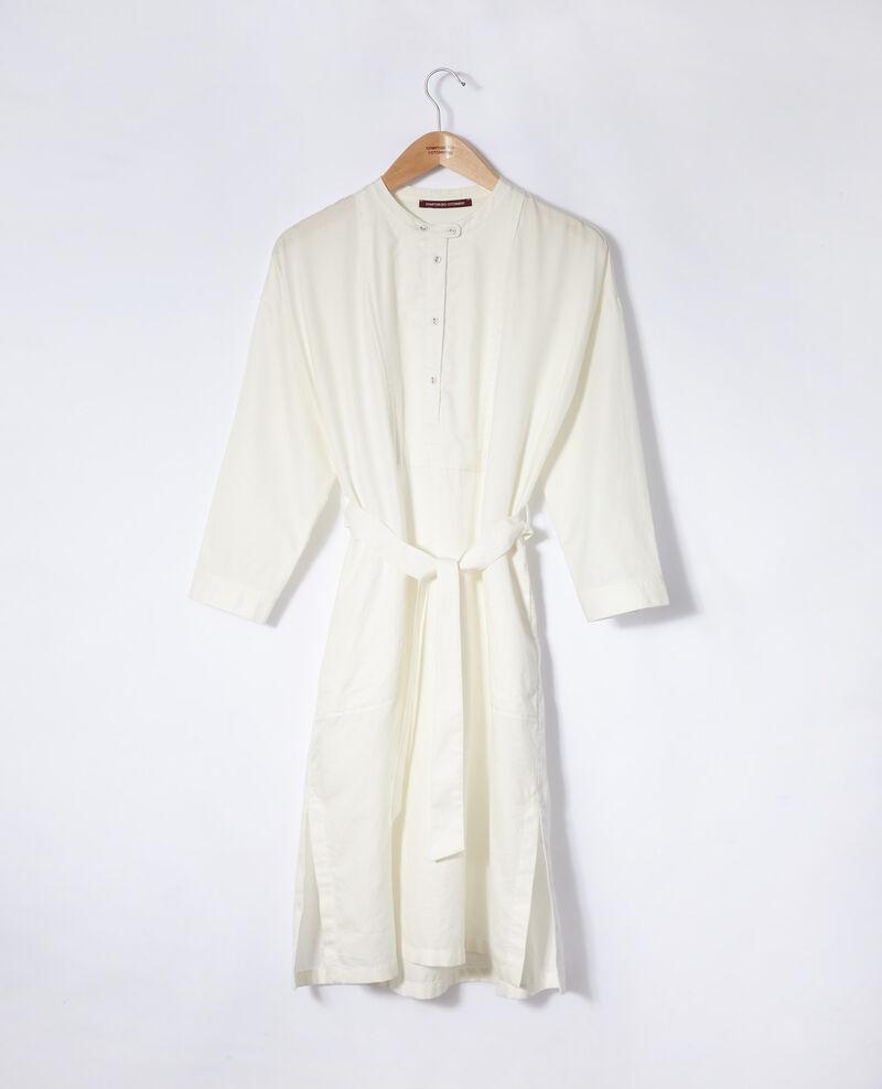 Vestido con pechera Blanco Gerrone