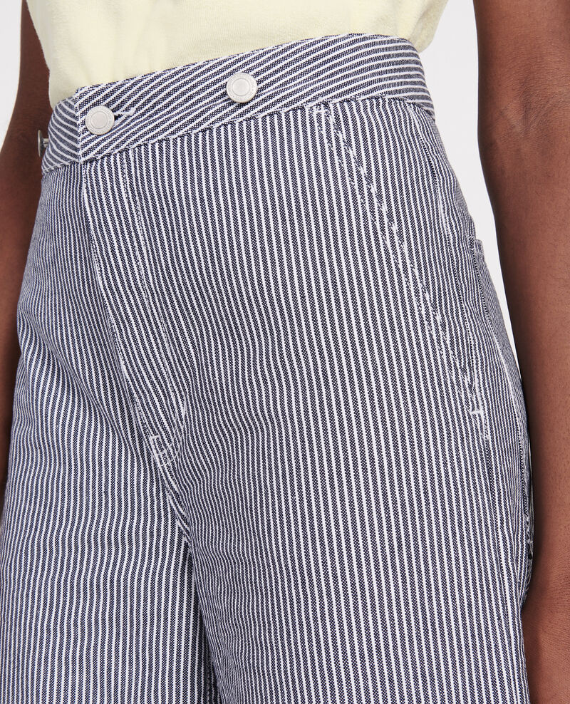 Jean wild leg Denim stripes Lalande