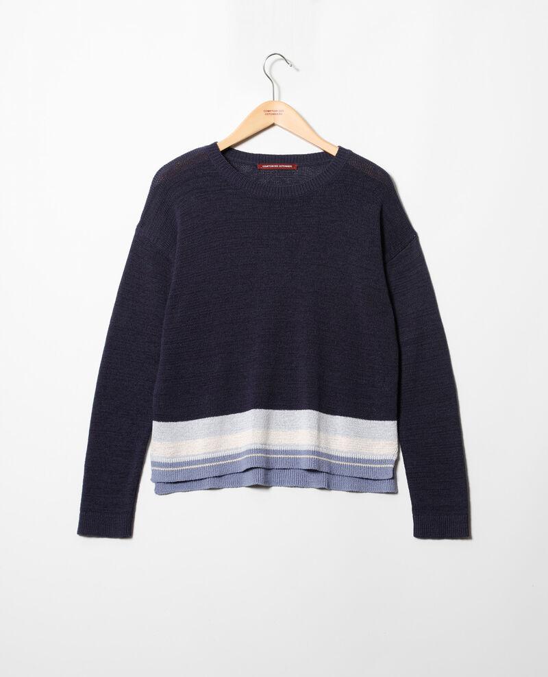 Jersey de lino con cuello redondo Ink navy Iraye