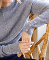 Jersey con botones en las mangas de 100% cachemir Light grey Jypie