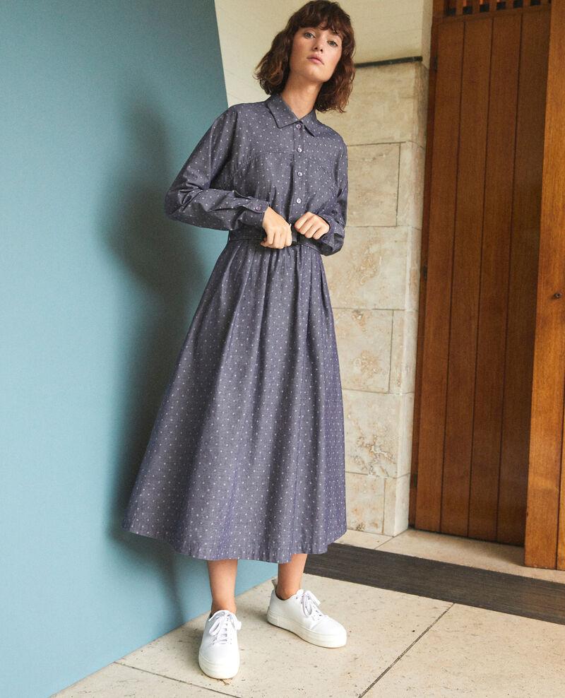 Vestido de longitud media Azul Goze