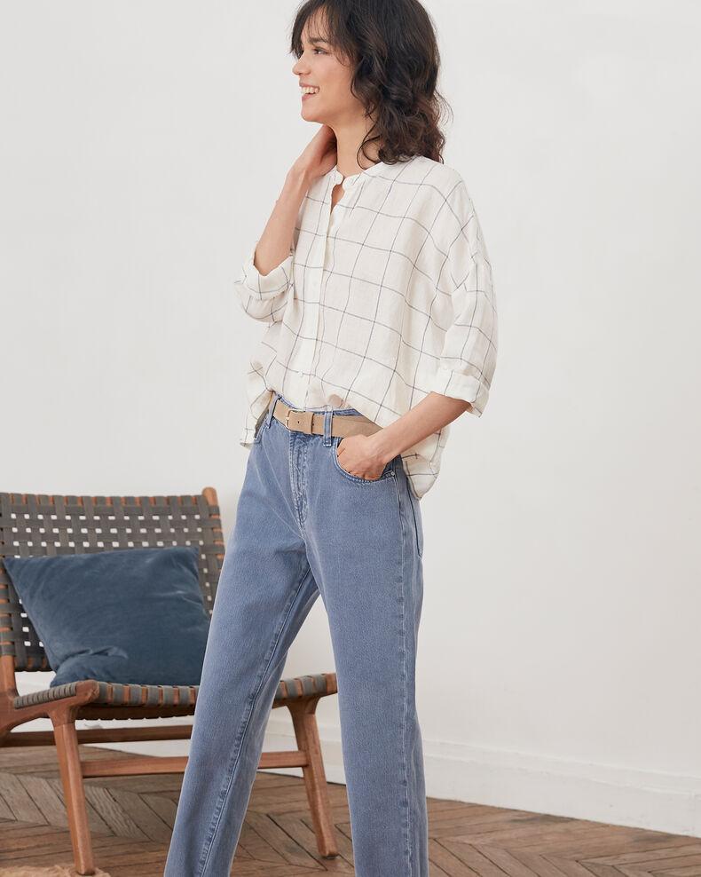 Blusa de lino Off white Fairplay