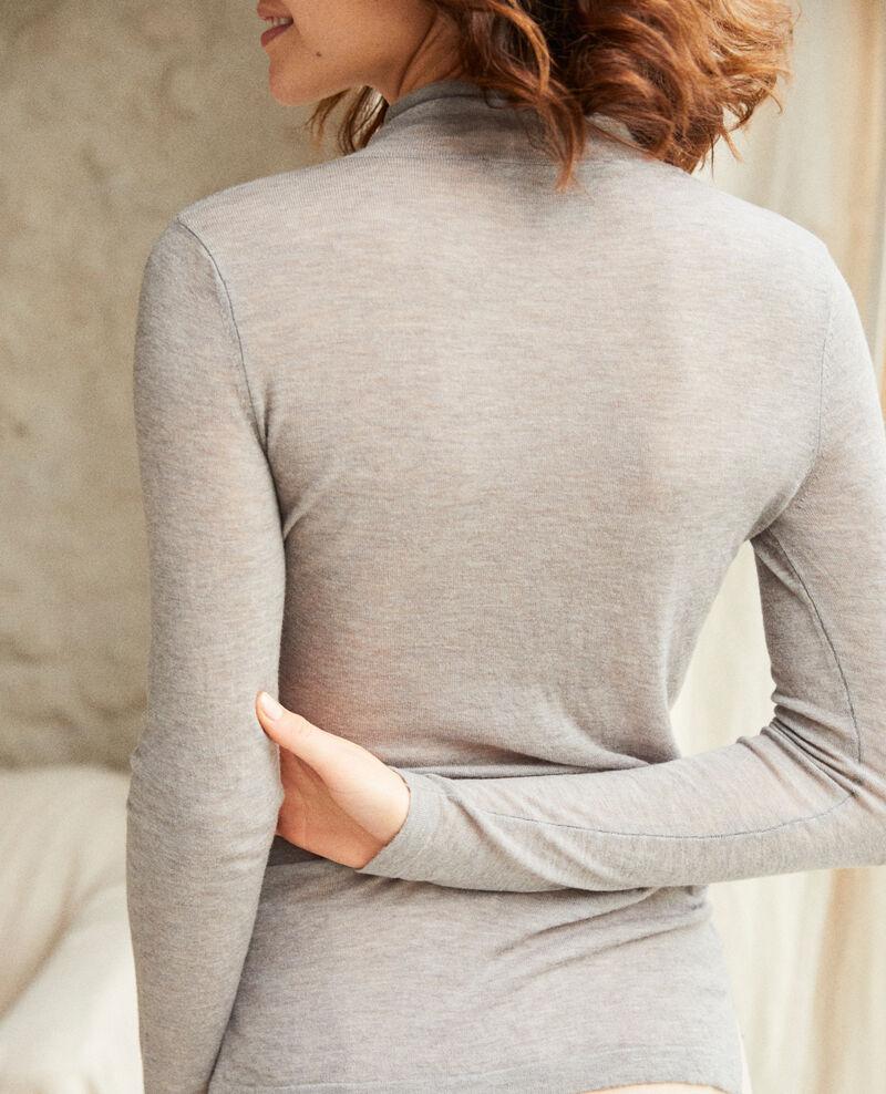 Jersey de lana con cuello subido Heather light grey Ilfried