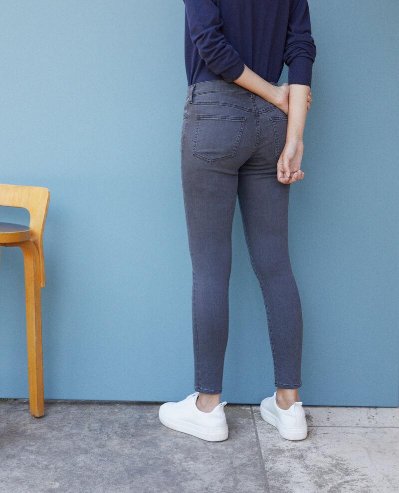 Jeans skinny cropped 7/8 Gris Griselda