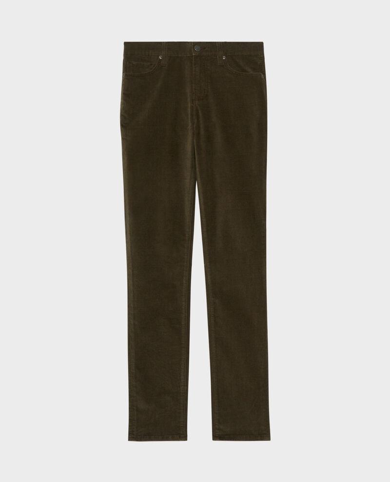 LILI - SLIM - Jeans 5 bolsillos Dark olive Pavelt
