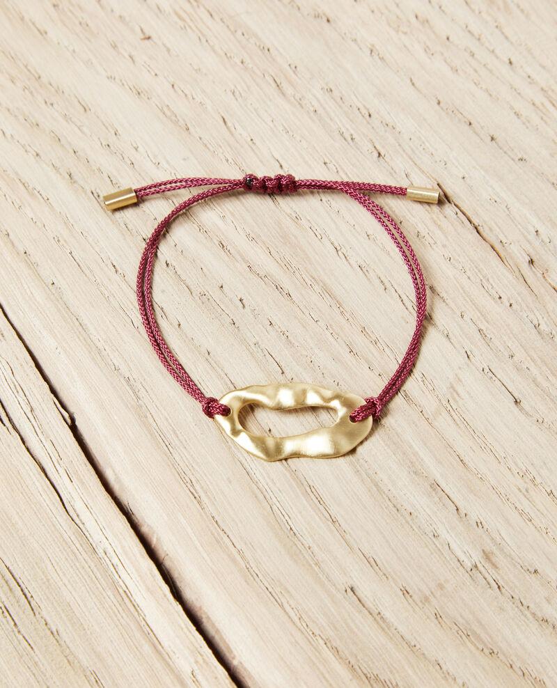 Pulsera de metal Gold/burgundy Iseala