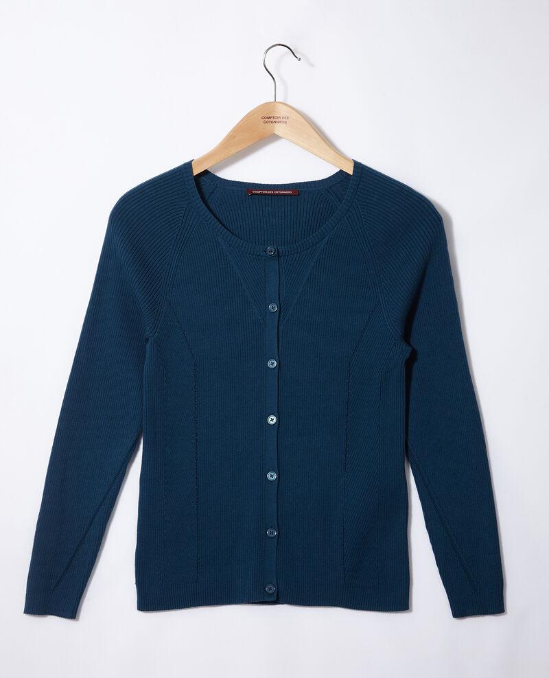 Cárdigan de algodón Azul Genie