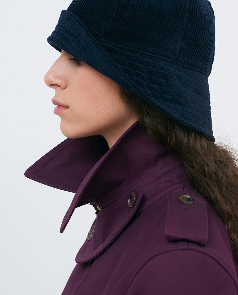 CATHERINE - Trench de algodón con cinturón longitud media Potent purple Mambert