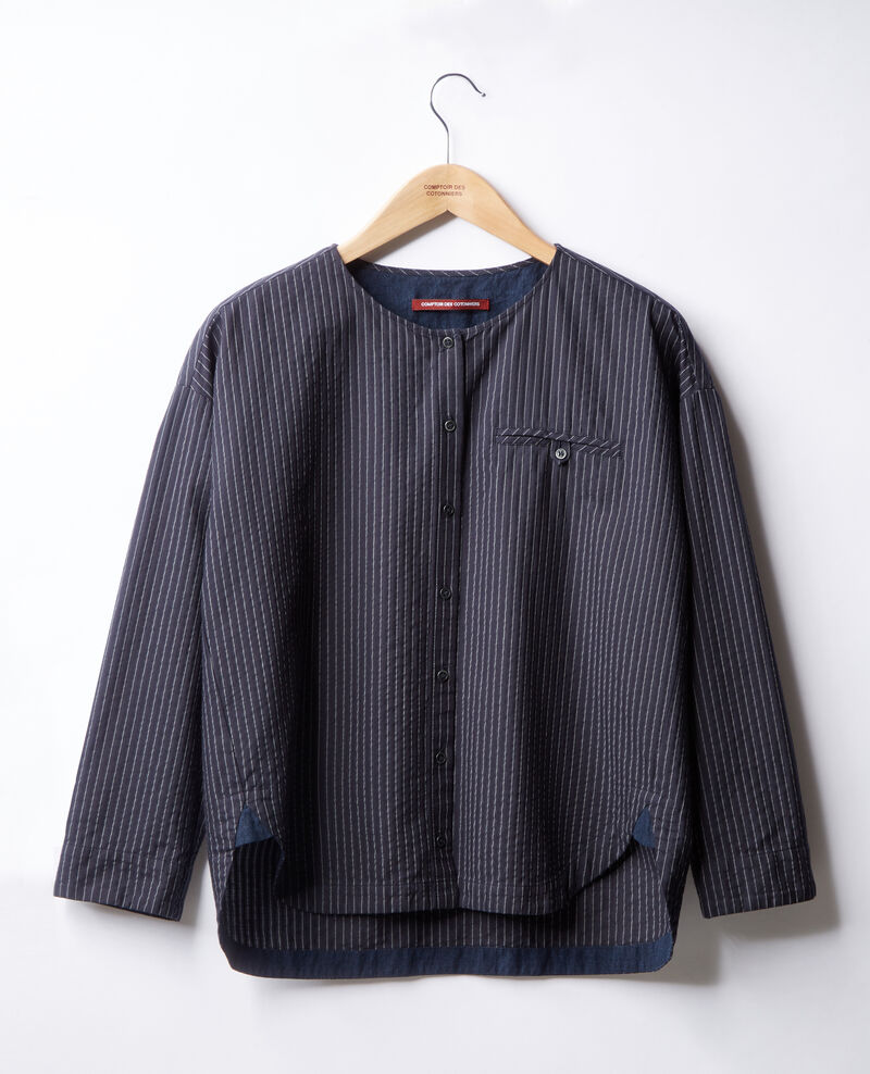 Camisa rayada Navy/off white stripes Falaise