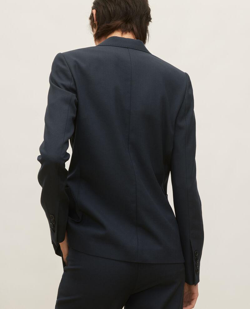 Blazer ligero de lana lisa Dark navy Luscade