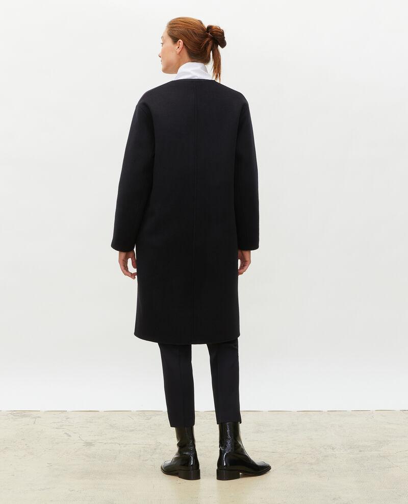 Abrigo de lana con doble cara Black beauty Muuck