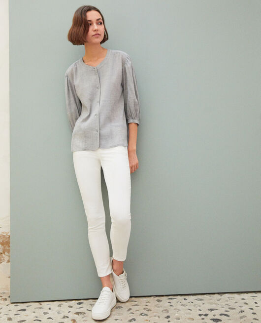 Jeans skinny 7/8 BLANC
