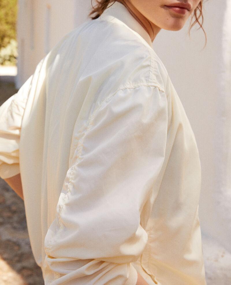 Chaqueta impermeable estilo bomber Blanc Illica