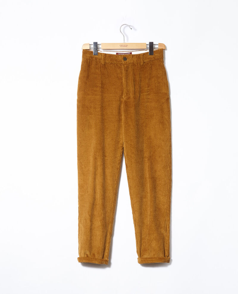 Pantalón de pana gruesa Golden brown Ganasso