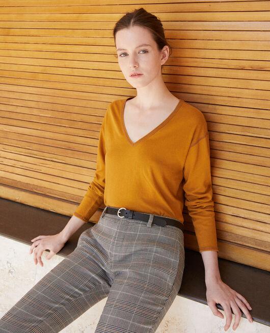 Camiseta de algodón Amarillo