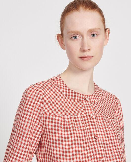 Blusa de lino VICHY KETCHUP BUTTERCREAM