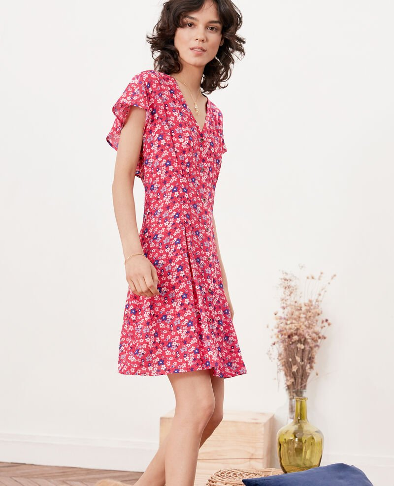 Vestido estampado Honolulu ultra pink Frenchy
