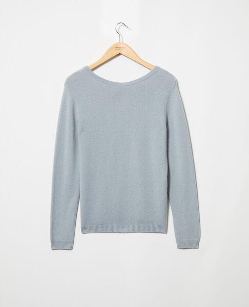 Comptoir des Cotonniers - Jersey cuello redondo de cachemir Blue mirage - 2