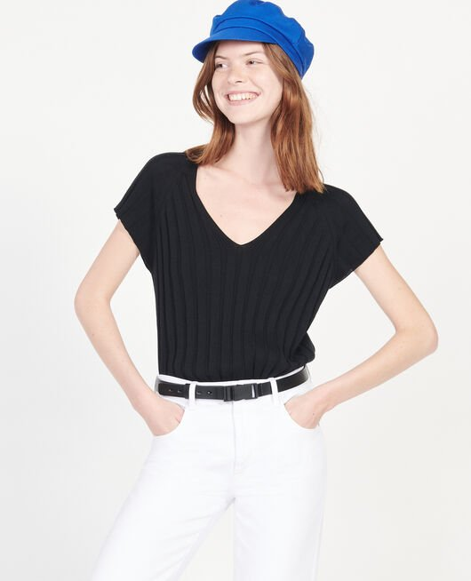 Jersey con ancho canalé BLACK BEAUTY