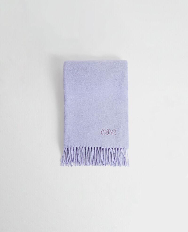 Gran bufanda de lana con flecos Pastel lilac Mautes