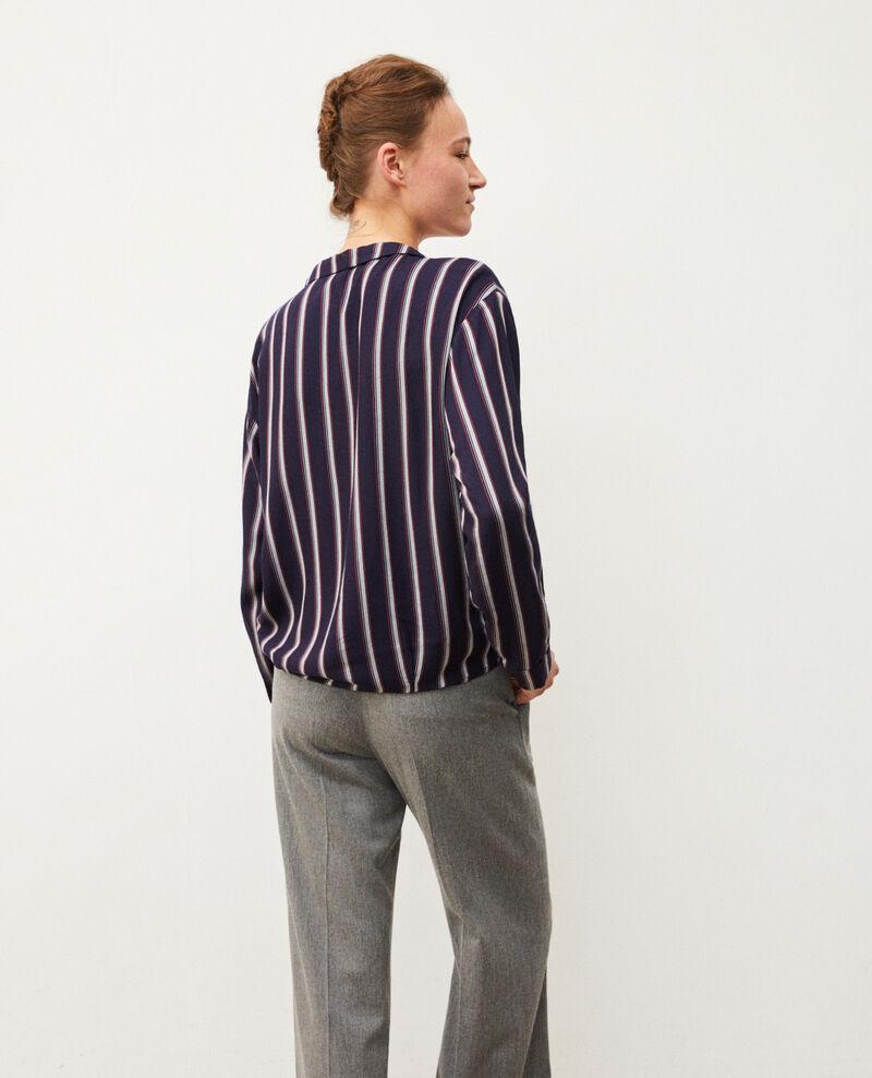 Camisa estilo pijama Azul Gladys