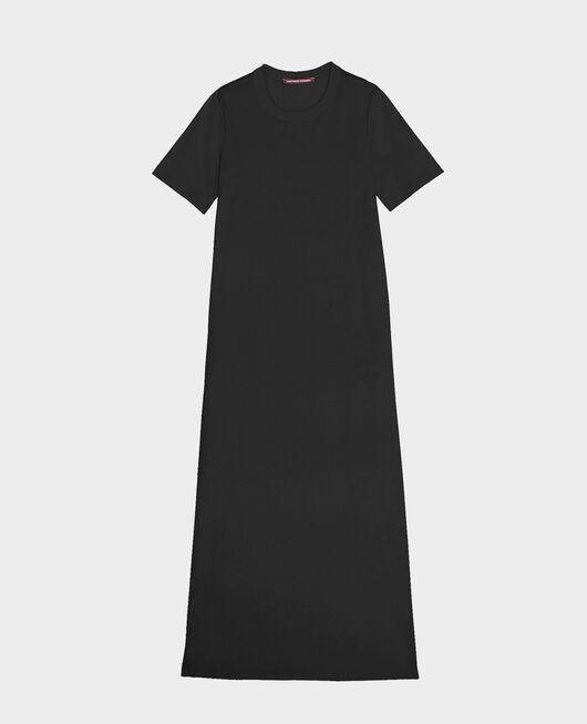 Vestido largo de algodón mercerizado BLACK BEAUTY