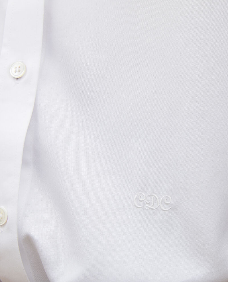 Camisa de algondón con cuello rendondo Brilliant white Mannion