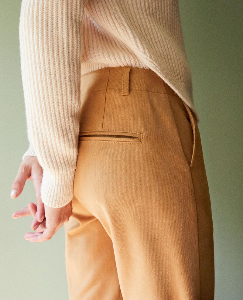 Pantalones chinos de tela  Iced coffee Jino