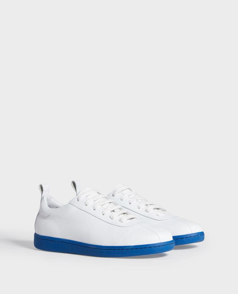 Sneakers de cuero con cordones White princess blue Lead