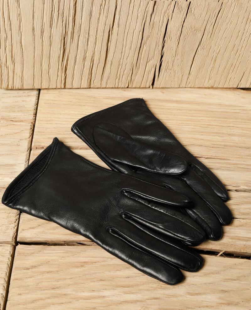 Guantes de piel Negro Gogant