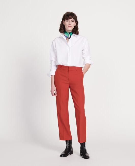 Camisa boyish de algodón OPTICAL WHITE