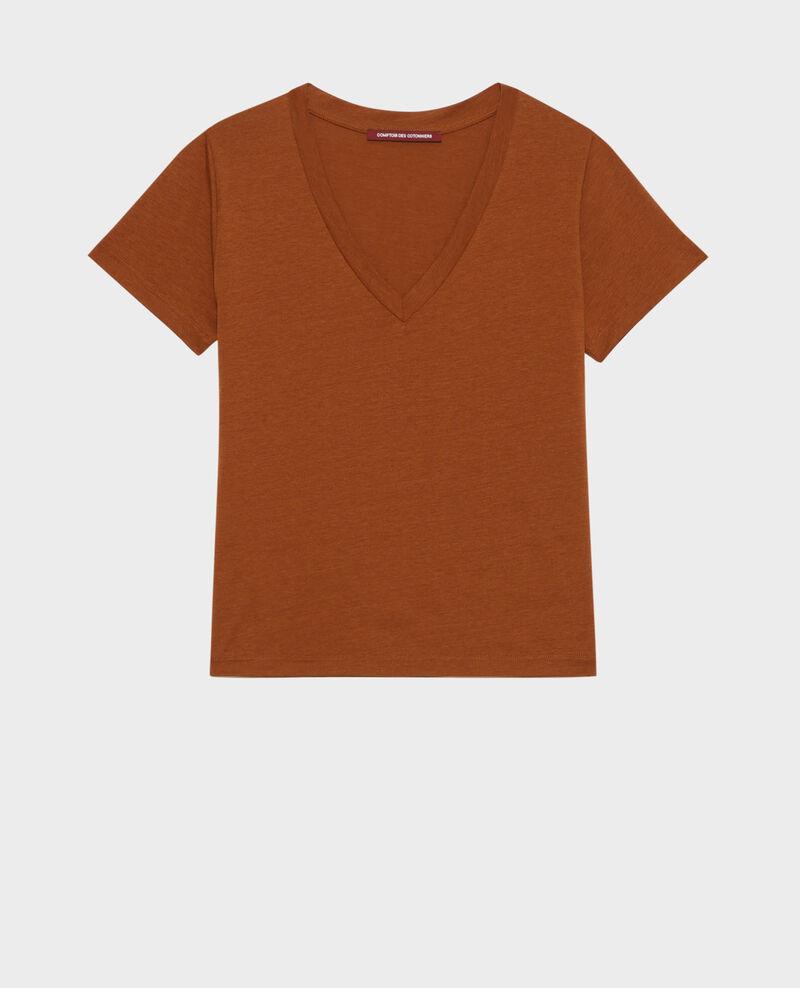 Camiseta fluida con cuello de pico Monks robe Paberne