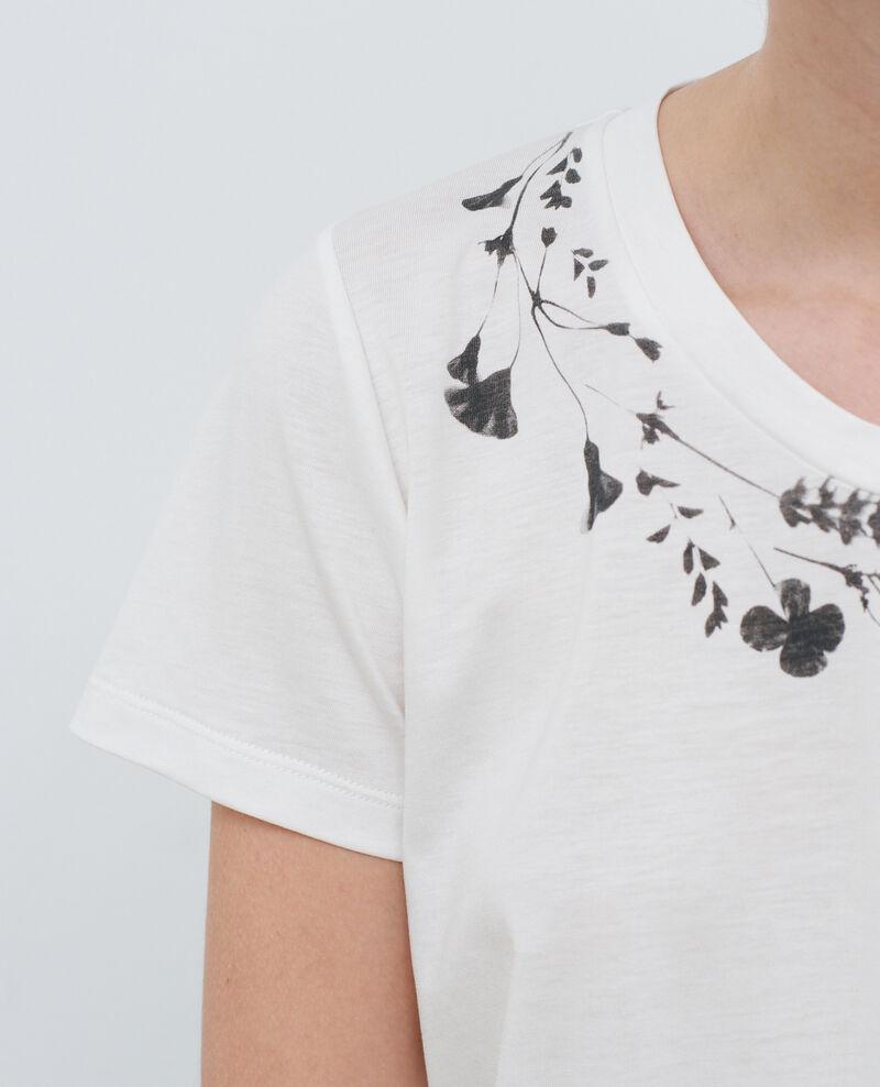 Camiseta fluida con cuello redondo Cloud dancer Preaux