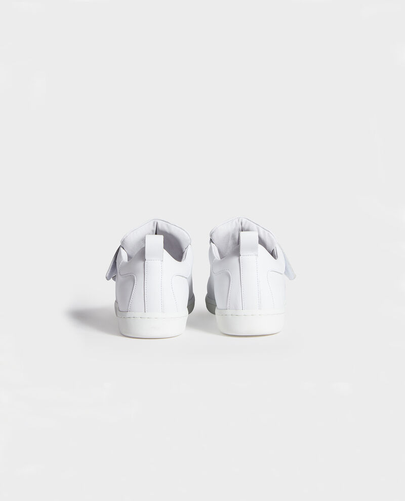 Sneakers de cuero con tiras de velcro Optical white Leader