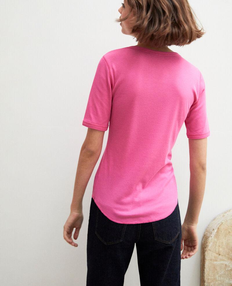 Camiseta canalé  Wild orchid Ibabie